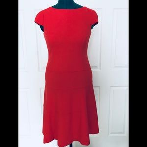 Vibrant color, classy dress by Anne Klein